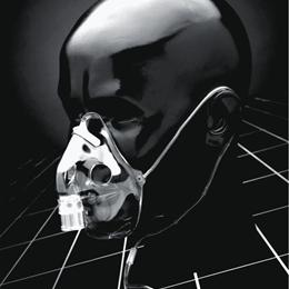 Aerosol Therapy Mask on model