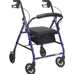 Aluminum Rollator withLoop Brake Blue (PMI) 4-Wheel