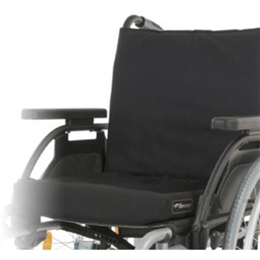 Breezy Elegance Silver manual wheelchair close up view of seat