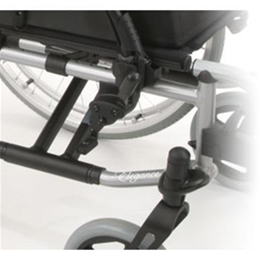 Breezy Elegance Silver manual wheelchair close up view of wheel attachment